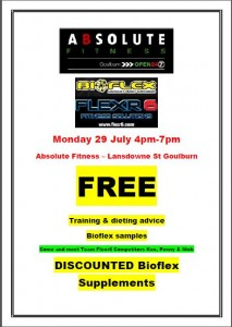 Bioflex at Abso flyer 29 July