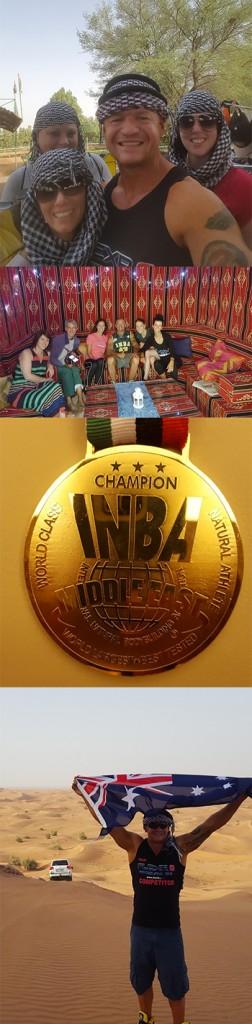 Team Flexr6 in Dubai at the INBA World Championships 2015